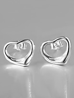 2015 Italy Style Silver Plated Bead Design Stud Earrings for Lady