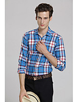 Men's Casual Plaids & Checks Long Sleeve Regular Shirt