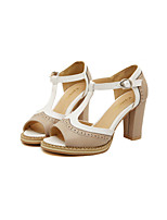 Women's Shoes Chunky Heel Peep Toe Sandals Casual Neutral