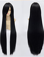 100cm Long Black Straight Hair Wig
