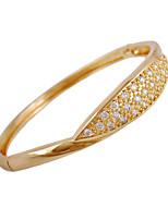 KU NIU Women's 18K Gold Plated Inlay Zircon Bracelet WSZ0025