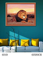 DIY Digital Oil Painting  Large Size Without Frame  Family Fun Painting All By Myself     Lion 6049