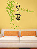 Wall Stickers Wall Decals Style Green Leaf PVC Wall Stickers
