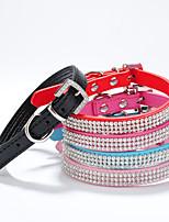 Rojo/Negro/Azul/Rosado Cuero PU - Collar - Perros/Gatos -