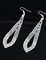 Women's European Style Fashion Alloy Drop Earrings With Rhinestone