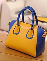 Women 's PU Sling Bag Tote - Pink/Yellow/Orange/Red