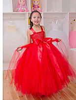 Performance Dresses Children's Performance Polyester Pleated 1 Piece Black/Red/Yellow