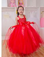 Kinderen - Uitvoering - Jurken ( Zwart/Rood/Geel , Polyester , Geplooide )