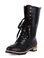 Women's Shoes Low Heel Closed Toe Boots Casual Black