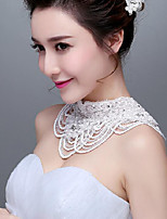 Korean Style Lace beading/Titanium Wedding/Party Necklace with Imitation Pearls