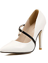 Women's Shoes Stiletto Heel Pointed Toe Pumps/Heels Casual Black/White