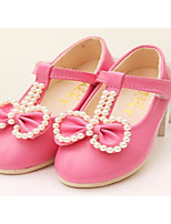 Girls' Shoes Outdoor/Dress/Casual Round Toe/Closed Toe Faux  Flats Blue/Pink/Red