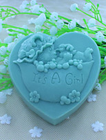 Heart Bear Handmode Soap Mold Fondant Cake Chocolate Silicone Mold, Decoration Tools Bakeware