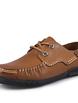Men's Shoes Office & Career/Casual/Party & Evening Leather Oxfords Brown/Yellow/Green