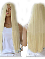Fashion Blonde Long Straight Synthetic Perruque Lolita Anime Peruca Harajuku Hair Wigs Sex Products Cheap Cosplay Wig