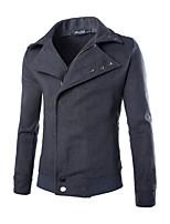Men's Long Sleeve Jacket , Tweed Casual Pure