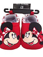Unisex Baby's Cartoon Mickey Slip-on Shoes Infant Toddler First Walker Prewalker Girl Boy Walk Trainer Crip
