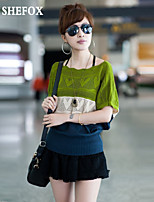 Women's Casual Micro-elastic Thin Short Sleeve Pullover (Knitwear) SF7B36