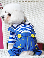 FUN OF PETS® Navy Stylish Fashionable Cotton Overalls for Pets Dogs (Assorted Colors and Sizes)