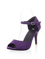 Women's Shoes Stiletto Heel Peep Toe/Comfort Pumps/Heels Outdoor/Office & Career/Dress/Casual Blue/Purple