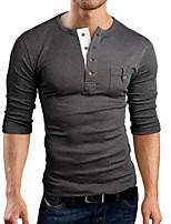 Men's Casual/Sport Long Sleeve Regular T-Shirt