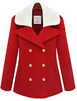 Women's Casual/Work Thick Long Sleeve Regular Coat