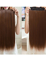 60cm High Temperature Wire Straight Hair Piece 5 Clamp