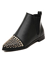 Women's Shoes Flat Heel Bootie Boots Outdoor/Casual Black