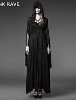 PUNK RAVE Y-510 Women's Vintage Thin Long Sleeve Long Coat