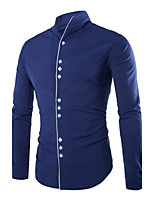 Men's Long Sleeve Shirt , Polyester Work Pure