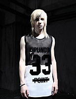 Men's Sleeveless Vest , Others Casual Print