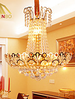 Modern LED Crystal Pendant Lamp 50cm With Cristal Balls And Gold Color For Dining Room Lighting (931)