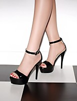Women's Shoes  Stiletto Heel Platform/Open Toe Sandals Office & Career/Dress Black/Brown/Yellow/White/Beige