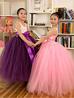 Performance Dresses Children's Performance Polyester Pleated 1 Piece Pink/Purple