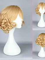 Women Lady Blonde Curl Cosplay Custume Short Faux Curly Hairs Fake Wig Hairpiece