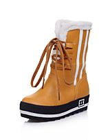 Women's Shoes Platform Combat Boots Boots Outdoor/Casual Black/Yellow/Red/Beige