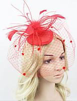 Women Fabric Hair Clip , Fashion Party Veil Headpiece