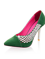 Women's Shoes Stiletto Heel Comfort/Pointed Toe Pumps/Heels Office & Career/Dress/Casual Black/Blue/Green/Pink/Red