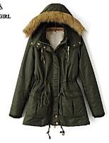 LIVAGIRL®Women's Coat Fashion Fur Collar Long Sleeve Thicken Keep Warm Cotton-padded Overcoat Winter Outwear