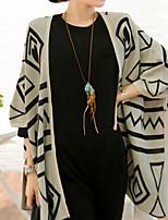 Chinanuo Women's Vintage Casual Geometric Cardigan (Cotton)