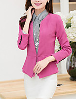 Women's Casual Work Medium Long Sleeve Regular Blazer (Microfiber)