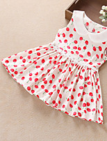 Girls Lovely Cherry Print Collar Party Birthday Holiday Baby Kids Clothing  Dress
