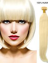 24inch remy Nagelspitze Haar 0,7 g / s Echthaar Haarverlängerungen 8 Farben für Frauen Schönheit
