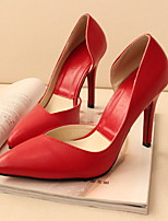 Women's Shoes Stiletto Heels/Pointed Toe Pumps Casual Black/Red