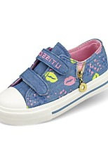 Girls' Shoes Outdoor Comfort/Closed Toe Canvas Fashion Sneakers Blue/Red