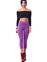 Women Cotton/Others Thin Solid Color Legging High Waist Casual Sporting Solid Fitness Casual Gym Yogo Pants With Zippers