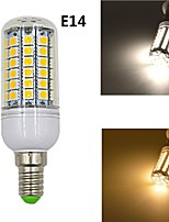 E14/E27 10W 1020lm 69x5050SMD LED Warm White or White Light Corn Bulb (AC 220-240V)