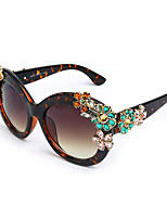 Women's 100% UV400 Cat Eye Vintage Diamond Cover Sunglasses