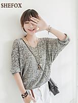 Women's Casual Thin Long Sleeve Pullover (Knitwear) SF7C10