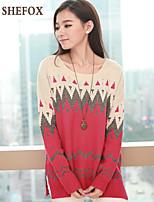 Women's Casual/Cute Stretchy Medium Long Sleeve Pullover (Knitwear) SF7C24